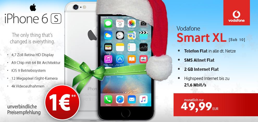Vodafone Smart XL mit iPhone 6s fuer 1 EUR